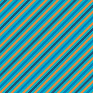 Orange And Blue Striped Pattern