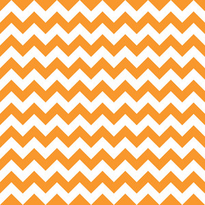 Orange And White Chevron Pattern On Dinosaur Paper
