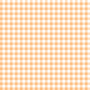 Orange And White Gingham Pattern