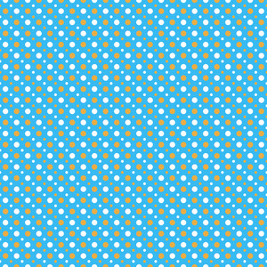 Orange And White Polka Dots Pattern On A Blue Background