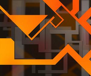 Orange Background Shapes