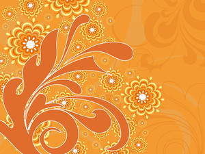 Orange Background With Artwork
