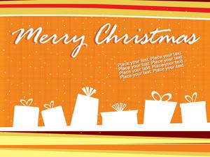 Orange Background With Shape Of Gift Box
