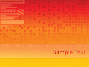 Orange Binary Pattern With Place For Text