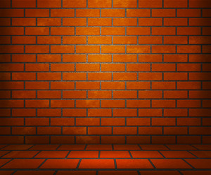 Orange Brick Stage Background