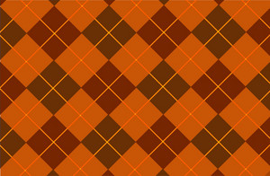 Orange-browny Tartan