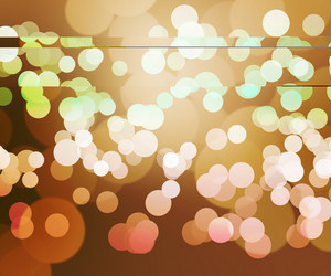 Orange Clear Bokeh Background