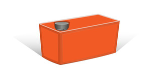 Orange Container Vector