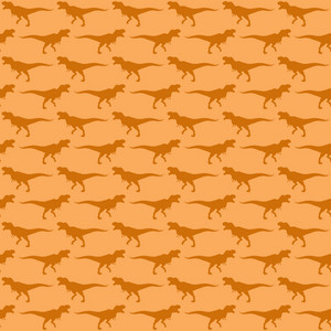 Orange Dinosaur Pattern