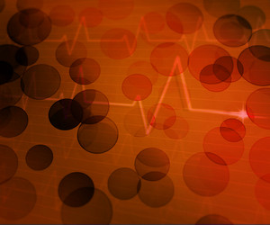 Orange Ekg Medical Background