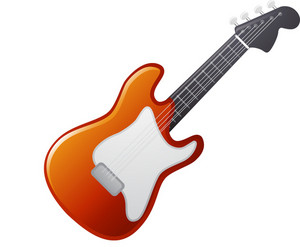 Orange Electric Guitar