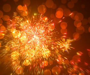 Orange Fireworks Bokeh Texture