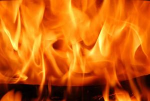 Orange Flames Burning