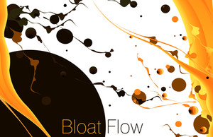 Orange Flow. Vector.