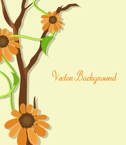 Orange Flowers Template Design