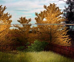 Orange Garden Premade Background