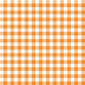Orange Gingham Pattern