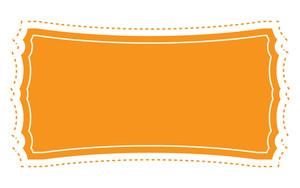 Orange Label Banner