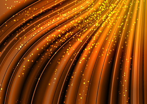 Orange Light. Vector Background.