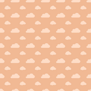 Orange Pastel Cloud Pattern
