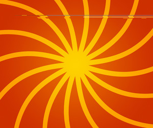 Orange Retro Rays Backdrop