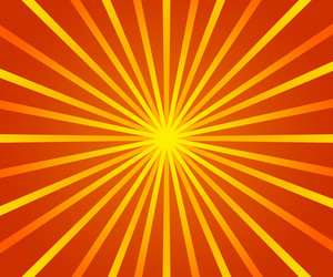 Orange Retro Sun Rays Backdrop