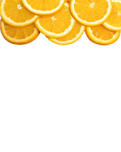 Orange Slices On Notepaper