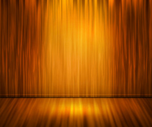 Orange Spotlight Abstract Background