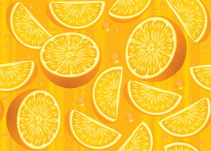 Orange Vector Seamless Texture.