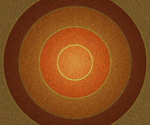 Orange Vintage Circles Background