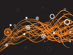 Orange Wave Element With Black Background