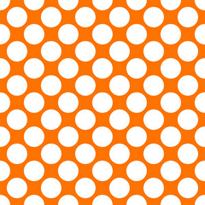 Pattern Of White Polka Dots On An Orange Background
