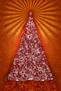 Orangered Christmas Tree