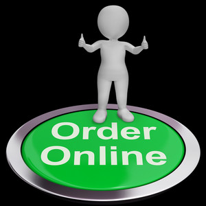 Order Online Button Shows Purchasing On The Web
