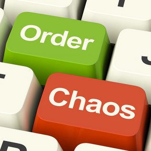 Order Or Chaos Keys Showing Either Organized Or Unorganized