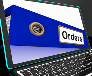 Orders File On Laptop Shows Customers Records