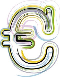 Organic Font Euro Symbol Illustration