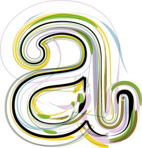 Organic Font Illustration. Letter A