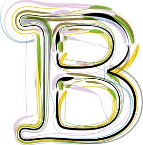 Organic Font Illustration. Letter B