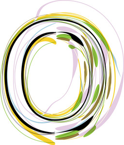 Organic Font Illustration. Letter O