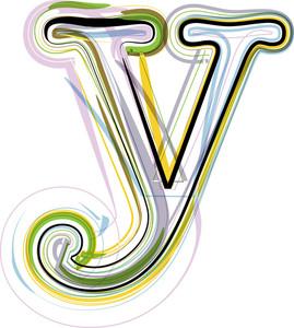 Organic Font Illustration. Letter Y
