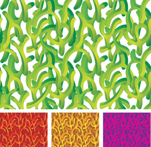 Organic Green. Vector Seamless.