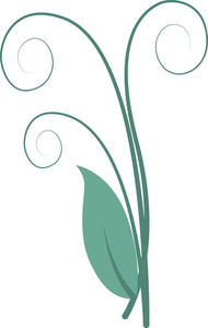 Organic Leaf Swirl Elements