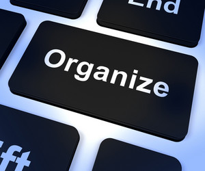 Organize Computer Key Showing Managing Online