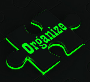 Organize Puzzle Showing Organization And Managing