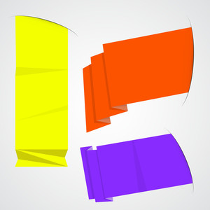 Origami Banners And Message Elements Vectors