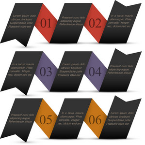 Origami Black Paper Numbered Banners