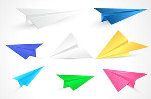Origami Paper Planes Vectors