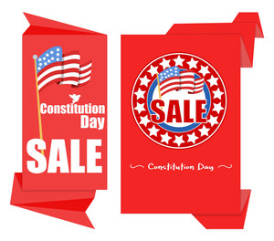 Origami Patriotic Paper Background  Constitution Day Vector Illustration