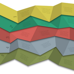 Origami Style - Creative Design Template For Infographics